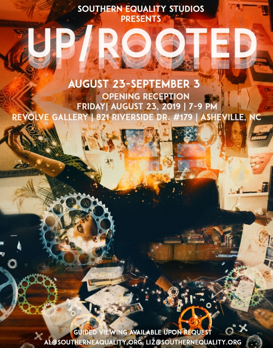 Up Rooted Art Show Flyer